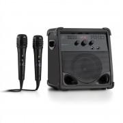 AUNA ROCKSTAGE караоке система BLUETOOTH CD+G USB MP3 опериране на батерия 2 X микрофона (VB6-RockStage)