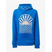 TOM TAILOR Sweatshirt met print op de borst, victoria blue blue, 152