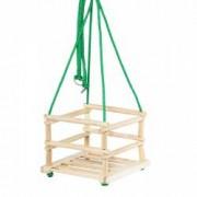 Leagan clasic de lemn pentru copii de peste 3 ani + mini cuburi Nebunici Cadou