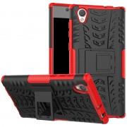 Capa Híbrida Antiderrapante para Sony Xperia L1 - Preto / Vermelho