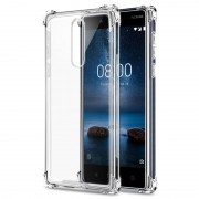 Capa Híbrida Resistente a Riscos para Nokia 8 - Transparente