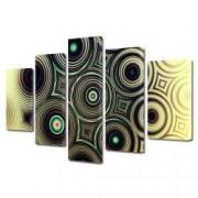 Tablou Canvas Premium Abstract Multicolor Cercuri Alaturate Decoratiuni Moderne pentru Casa 120 x 225 cm