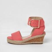 River Island Girls Orange cork espadrille wedge sandals (Size 11 Junior)