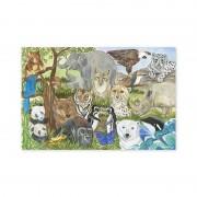 Puzzle de podea Animale protejate, Melissa and Doug, 48 piese