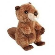 Merkloos Pluche bruine bever knuffel 15 cm speelgoed