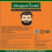 Shagun Gold Herbal Natural Beard Powder black color cover your Gray Mustache For Men 400gm