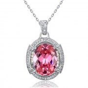 Colier One Passion Pink Simulated Diamonds 925 Sterling Silver