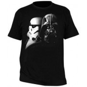 "MagicBox Tričko Star Wars - ""Vader a Trooper"" pánské, černé S"