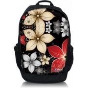 """Laptop rugzak 15.6"""" beige bloemen - Sleevy"""