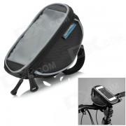 ROSWHEEL 11810S-Una bolsa de manillar Mobile Phone w / ventana de la pantalla tactil