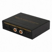 Digital to Analog Converter 2 SPDIF + 2 Coaxial to SPDIF+ L/R +Headphone audio