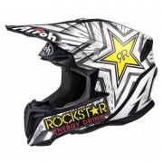 Airoh Moto-Cross-Helm Motorrad X-Cross-Helm Airoh Twist Rockstar schwarz/weiß XS weiß