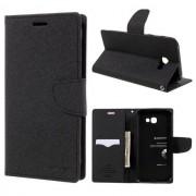 Mercury Pouzdro / kryt pro Samsung GALAXY A7 (2018) A750 - Mercury, Fancy Diary Black/Black