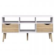 TV-dressoir Delta 6-vaks - wit - 57,4x117,1x39 cm - Leen Bakker