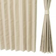 イージーオーダードレープカーテン100cm2枚組 201-219cm【QVC】40代・50代レディースファッション