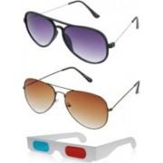 Hrinkar Aviator Sunglasses(Grey)