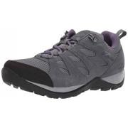 Columbia Redmond V2 Zapatos de Senderismo Impermeables para Mujer, Ti Grey Steel/Ciruela Púrpura, 7.5 US