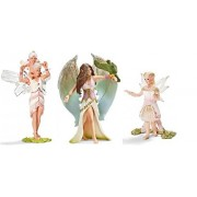 Schleich Set of Three (3) Ice Bayala Figures: Delicate Lily Elf 70462, Iloris with Leolynn 70466, Surah with Bird 70478 Bagged Together Ready to Give