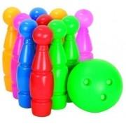 Set bowling 9 popice si 1 minge Camicco, multicolor