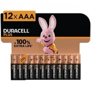 Duracell Plus Power AAA Pack von 12 Batterien (MN2400B12)