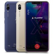 "Smartphone Allview Soul X5 Style, Procesor Octa-core, 2GHz/1.5Ghz, IPS LCD Capacitive touchscreen 6.2"", 3GB RAM, 32GB FLASH, Camera Duala 13MP + 2MP, Wi-Fi, 4G, Dual Sim, Android (Auriu) + Cartela SIM Orange PrePay, 6 euro credit, 6 GB internet 4G, 2,000"