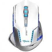 E-3lue EMS601WHAA Mazer II 2500 DPI Blue LED 2.4GHz Optical Wireless Gaming Mouse (White)