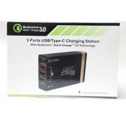 Incarcator 3 porturi USB, 1 port USB incarcare rapida si 1 port USB-C