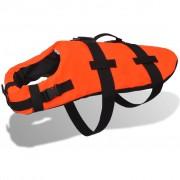 vidaXL Vestă de salvare câini, mărime M, portocaliu