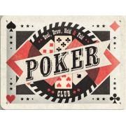Placa metalica - Poker Club - 15x20 cm