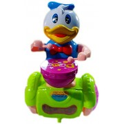 JINKRYMEN New Arrival Funny Duck Drummer for Baby Musical Bump and Go Action 360 Degree Spins