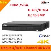 English Version Dahua NVR4104HS-4KS2 NVR4108HS-4KS2 NVR4116HS-4KS2 4k H.265 H.264 Up to 8MP Resolution Support ANR Dahua nvr