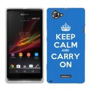 Husa SONY Xperia L C2105 Silicon Gel Tpu Model Keep Calm Carry On