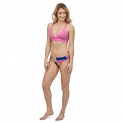 Patagonia Women's Nanogrip Sunset Swell Bikini Top, Marble Pink / XL