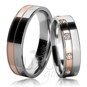 MAURICIUS snubní prsteny červeno bílé zlato C 5 UE 1 BCB