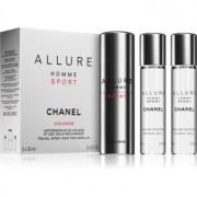 Chanel Allure Homme Sport Cologne água de colónia ((1x vap.recarregável + 2 x recarga)) para homens