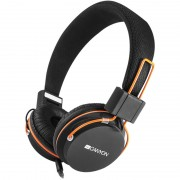 HEADPHONES, CANYON CNE-CHP2, Microphone, foldable, black