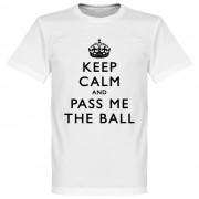Retake Keep Calm And Pass Me The Ball T-Shirt - weiß - M