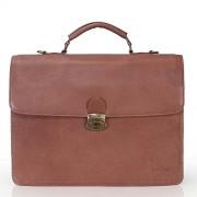 Brune For Men Brown Colour Leather Office Bag