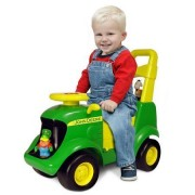 John Deer Foot To Floor Light And Sound Tractor,Includes Four Adorable Farm Animals With Fun Places to Ride,Realistic Tractor Sounds,Educational Activity Playset Area,Great Gift for Boys