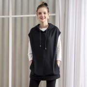 Pixie Heart T/C裏起毛パーカーベスト【QVC】40代・50代レディースファッション