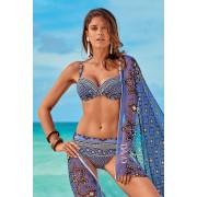 Elissea kétrészes női fürdőruha, kék-lila színes