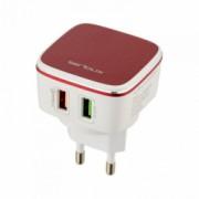 Incarcator rapid cu 2 porturi USB 2 cabluri incarcare rapida incluse
