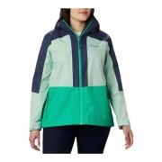Columbia Plus Size Windgatestrade Jacket Dark LimeNew MintNocturnal