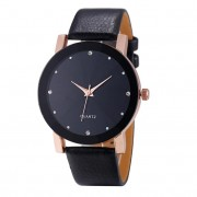 Fantastic Gold Watch Women Casual Leather strap Rhinestone women Watch Bracelet Clock Quartz Wristwatch Montre Femme 17Oct 11