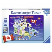 Puzzle harta canadei 100 piese
