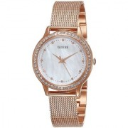 Guess Analog White Round Watch -W0647L2