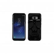 Funda Case Para Samsung S8 Plus Doble Protector De Uso Rudo - Calavera Silver