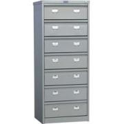 Метален шкаф за висящи папки Промет AFC-07 с 7 чекмеджета