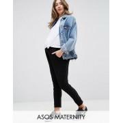 ASOS DESIGN - Mammakläder - Peg-byxor i jersey - Svart