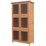 vidaXL Animal Rabbit Cage 6 Rooms Wood
